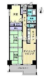 サーパス西古松I[4階]の間取り
