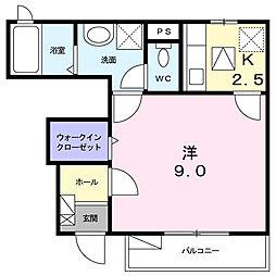 神奈川県平塚市真田1丁目の賃貸アパートの間取り