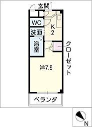 レジデンス司II[3階]の間取り