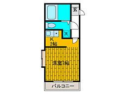 ワコーレ町田[1階]の間取り