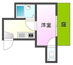 カームマンション明神町[1階]の間取り