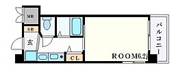 エステムコート神戸ハーバーランド前IIIコスタリティ[9階]の間取り