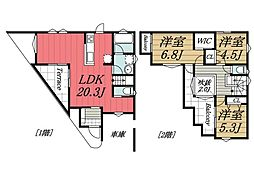 [一戸建] 千葉県四街道市さちが丘1丁目 の賃貸【/】の間取り