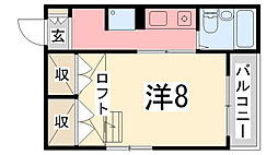 Smile東今宿[206号室]の間取り