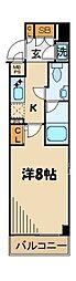 東京都北区昭和町2丁目の賃貸マンションの間取り
