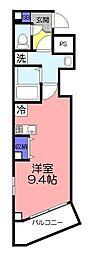 ツリーデン綾瀬 2階ワンルームの間取り
