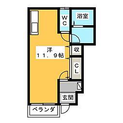 コンクルシオ[1階]の間取り