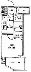 東京都渋谷区千駄ヶ谷4丁目の賃貸マンションの間取り