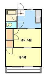 中塚ハイム[103号室]の間取り
