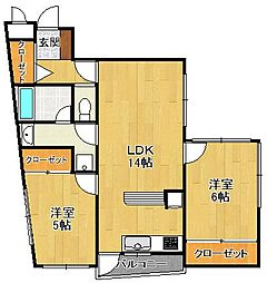 K-HAUS[1階]の間取り