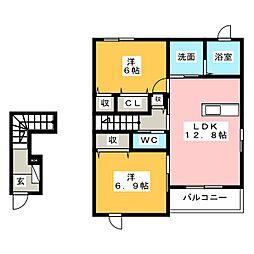 エア フィールドII[2階]の間取り