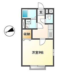 愛知県名古屋市熱田区森後町の賃貸アパートの間取り