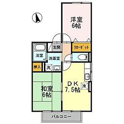 セジュールBON[2階]の間取り