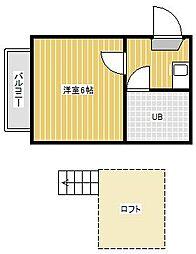 ジュネパレス新松戸第52[2階]の間取り