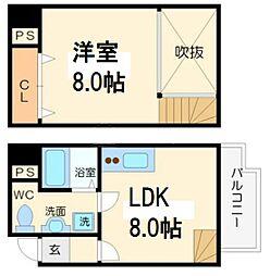 SONIX2015 8階1LDKの間取り