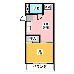 メゾン水野[4階]の間取り
