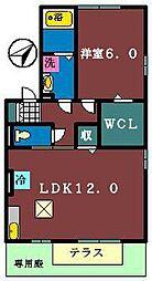 オリーブガーデンC棟[102号室]の間取り