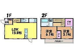[一戸建] 愛媛県松山市古川北1丁目 の賃貸【愛媛県/松山市】の間取り