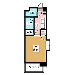 ベルビレッジ鳴海[4階]の間取り