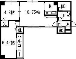 アンソレイエ ヴィ メゾン[4階]の間取り