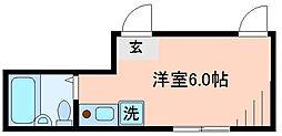 東京都葛飾区立石4丁目の賃貸アパートの間取り