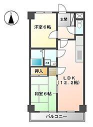 エクセルメゾン本山[5階]の間取り