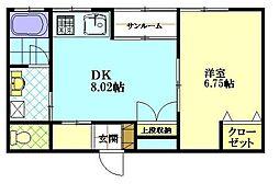 ピュアハウスKOUII[102号室]の間取り