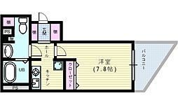 GRECALE天王寺[5階]の間取り