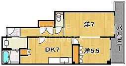 御所西シンワマンション[605号室号室]の間取り