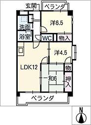 オランジェエトワール[3階]の間取り