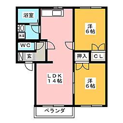 メゾンときII[2階]の間取り