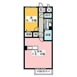 メルヴィユ[2階]の間取り