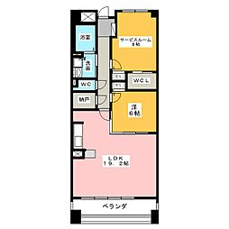 グラン・アベニュー名駅南[6階]の間取り