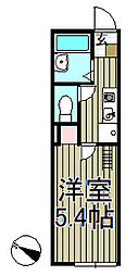 ラ・メール本郷台[202号室]の間取り