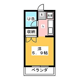 コーポルノワール[3階]の間取り