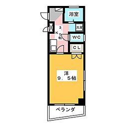 マンションウイング[2階]の間取り