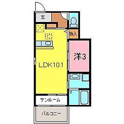 プリート8[103号室]の間取り