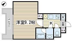 東京都文京区本駒込6丁目の賃貸マンションの間取り