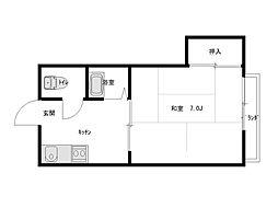コーポ境田[1階]の間取り