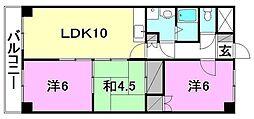 クオリティーハイツ尾崎[406 号室号室]の間取り