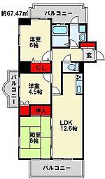 オリエンタルH-FK[4階]の間取り