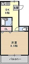 プレジデント下鴨[3F号室号室]の間取り