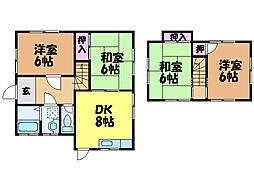 [一戸建] 愛媛県松山市東野3丁目 の賃貸【/】の間取り