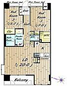北西東の3方角部屋です。収納豊富なお部屋です。(Kは帖数不明です)