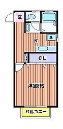 メゾンフルセ[2階]の間取り