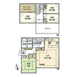 [一戸建] 神奈川県横浜市港南区下永谷2丁目 の賃貸【/】の間取り