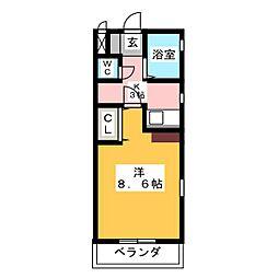 KⅡ−OKASAN B.参番館[5階]の間取り