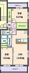 ラミアカーサ[3階]の間取り