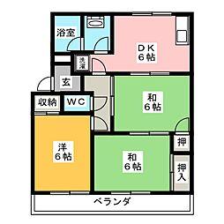 元町第2ハイツ[1階]の間取り
