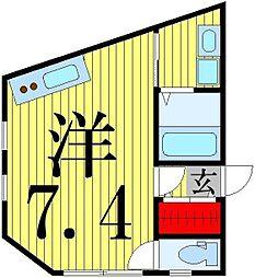 東京都葛飾区亀有2の賃貸アパートの間取り